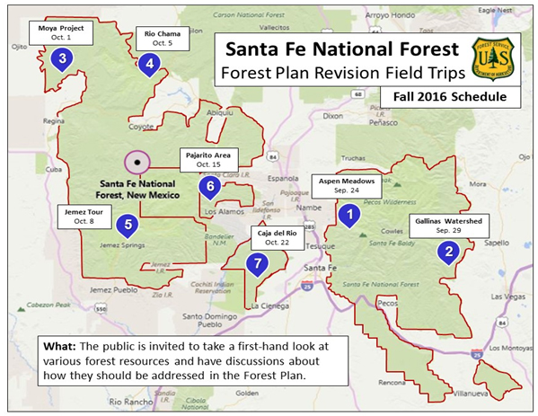Forest Plan Revision Forest Resource Field Trips  Santa