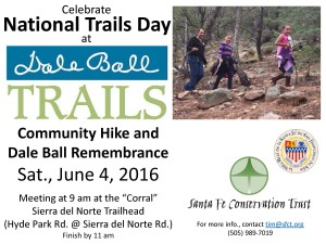 Dale Ball Remembrance Natl Trails Day